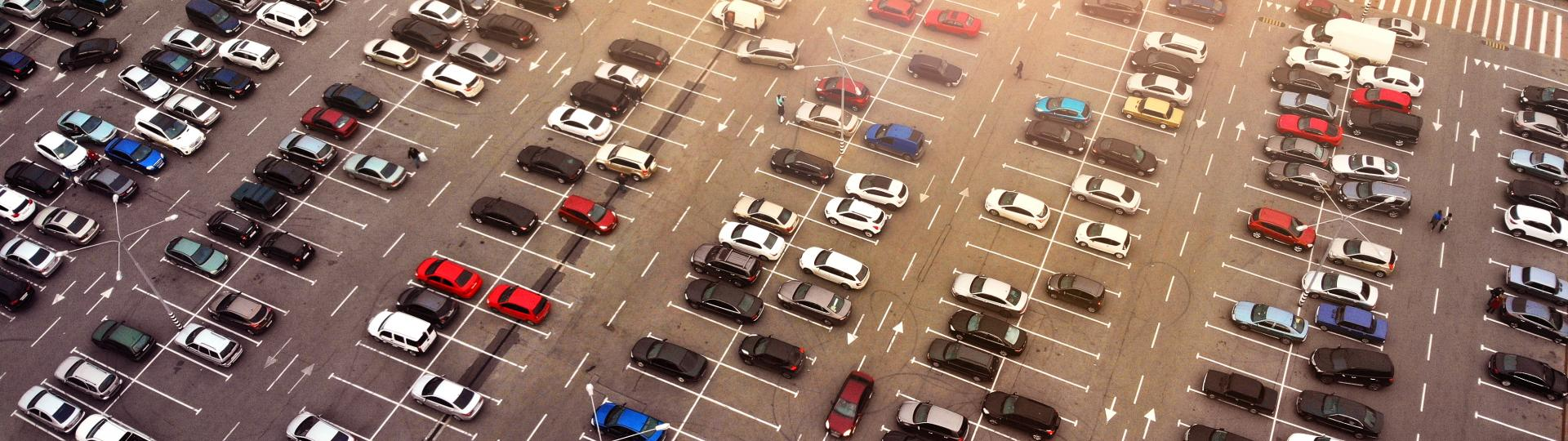 Aerial View of a Street Parking Area